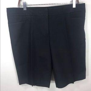 Apt 9 Bermuda Shorts Womens 14 Black Cotton Blend